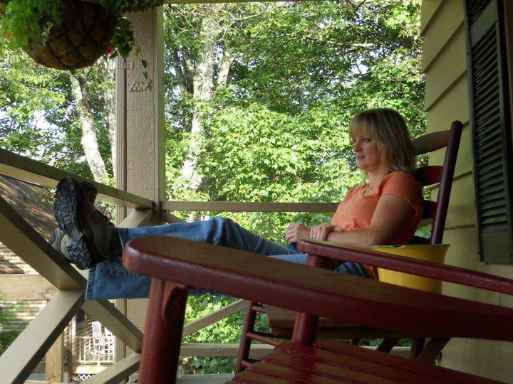 One of my favorite front porches -- Mountainaire Inn, Blowing Rock, NC