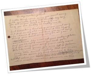 Gr Grandma Archy's Poem 1940