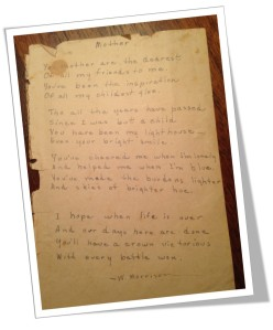 Granny's Poem 1937