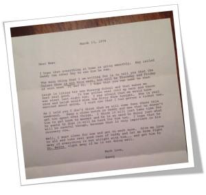Mom's Letter 1974